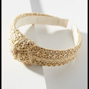 ANTHROPOLOGIE Raffia headband in natural